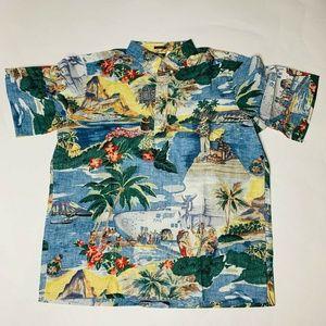 Reyn Spooner Mens Hawaian Shirt Size Extra Large